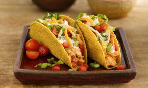 Tacos au poulet ranch