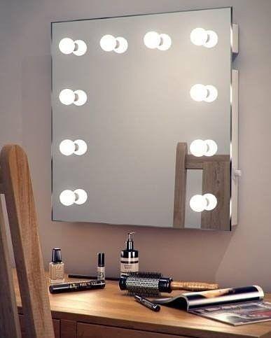 Miroir Hollywood De Maquillage Decoratif Illumine Avec Ampoules