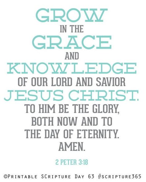 2 Peter 3:18. Grow in Grace. 8x10.  DIY. Printable Christian Poster. PDF. Bible Verse.