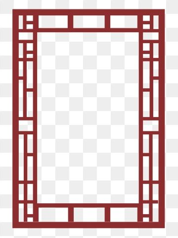 Chinese Style Vintage Border Dark Red Chinese Style Frame Balance