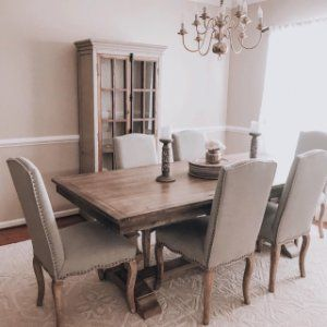 Calais Upholstered Dining Chair Grey Dining Tables Harvest