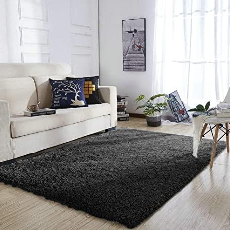 Yoh Super Soft Area Rugs Silky Smooth Bedroom Mats Fluffy Shaggy