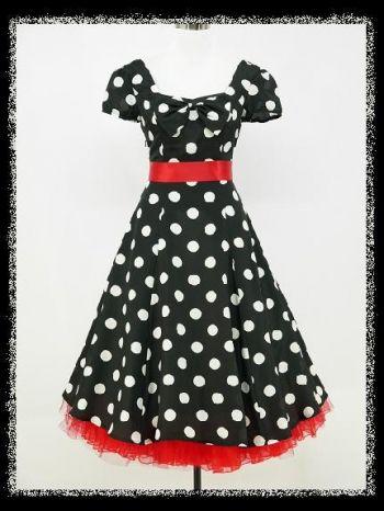 5f0fc86e Sukienka w grochy z bufkami Czerwone dodatki | sukienki | Sukienka ...