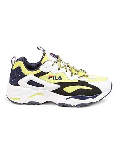 Fila Men's Ray Tracer Sneakers LemaWhiteBlack Size 10