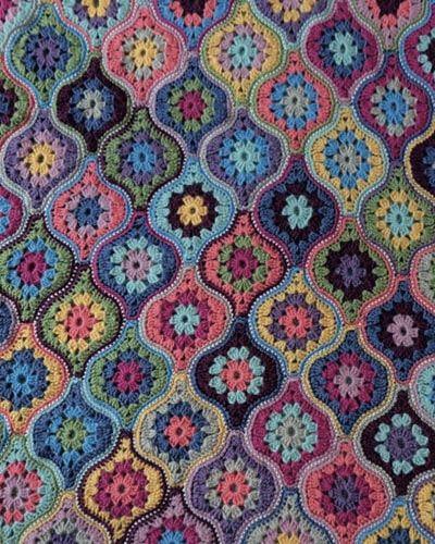 Mystical Lanterns Blanket Designed By Jane Crowfoot Crochet Blanket Crochet Ogee Pattern