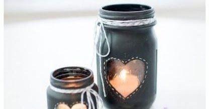 Kerajinan Tangan Dari Bahan Bekas Stoples Tempat Lilin Dengan