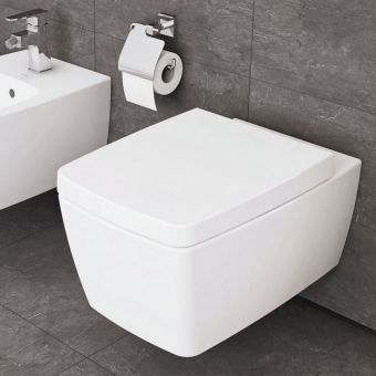 Vitra M Line Rimless Wall Hung Toilet With Soft Close Seat Wall Hung Toilet Toilet Wall Mounted Basins