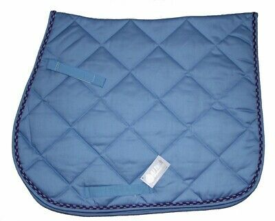 Advertisement Ebay All Purpose Quilted Cotton English Saddle Pad Light Blue Fun Braided Piping Saddle Pads English Saddle Pads English Saddle