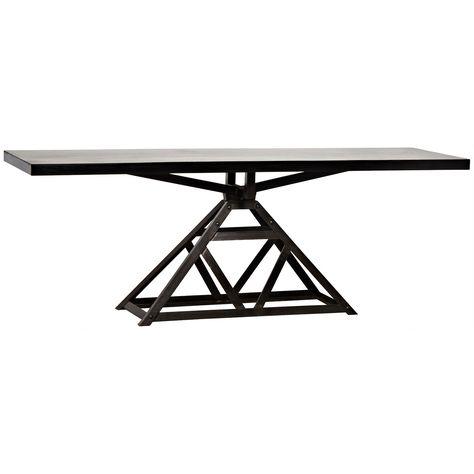 Noir Parker Metal Console Table Zincdoor F U R N I T U R E