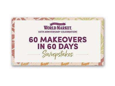 World Market 60th Anniversary Sweepstakes (61 winners
