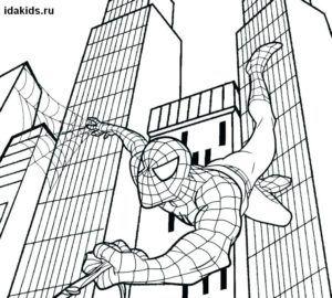 раскраски человек паук новый человек паук раскраски для