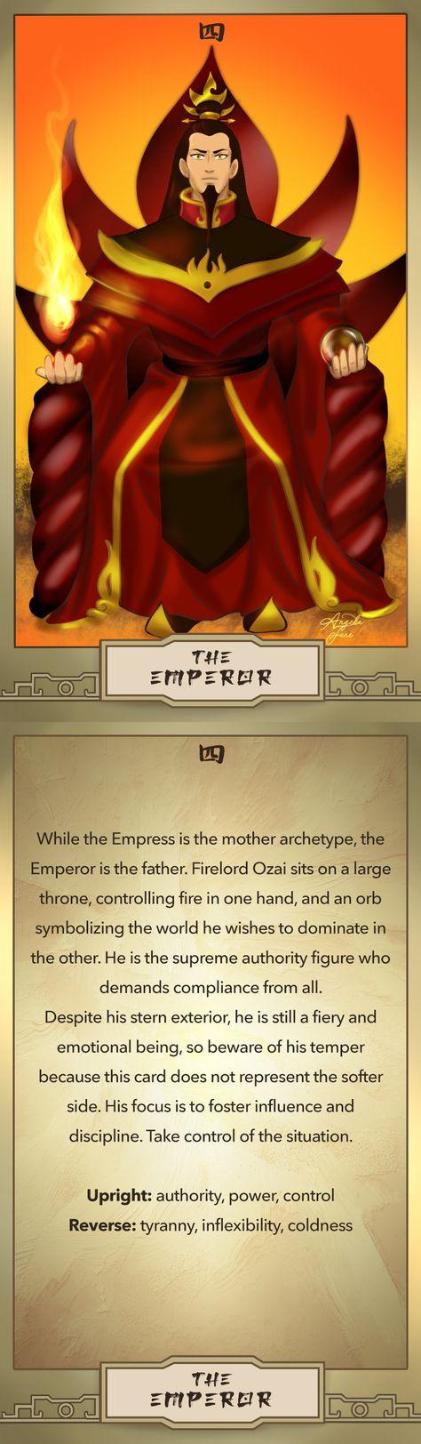 AtLA Tarot - 4 - The Emperor: Firelord Ozai