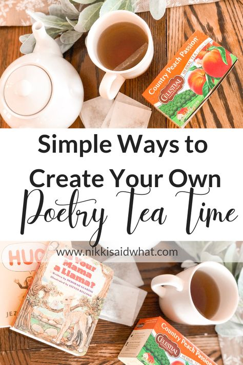 Poetry Tea Time - How To Hygge - Ideas of How To Hygge - Poetry Tea Time homeschool hygge hygge life hygge home hygge schooling poetry tea time Celestial Seasonings tea tea pot Poetry Books For Kids, Celestial Seasonings Tea, Poetry Activities, Poetry Lessons, Hygge Life, Charlotte Mason, Afternoon Tea, Tea Time, Tea Pots