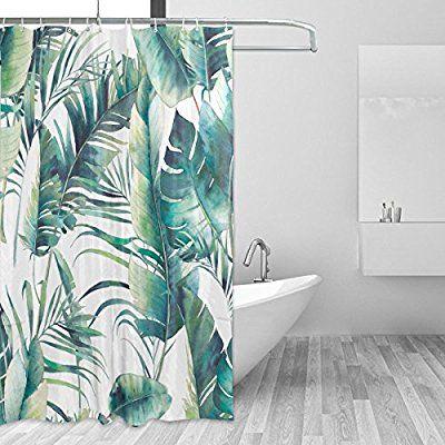 Jstel Sommer Palme Und Banana Leaves Duschvorhang
