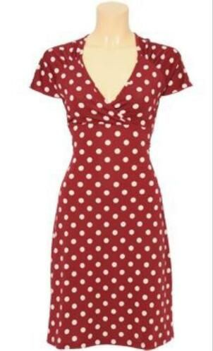 379f5683abf ≥ Prachtige King Louie Gina dress M polkadot warm rood ...