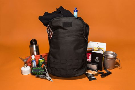 "When disaster strikes, it's good to have a survival bag (a.k.a. ""bug-out bag"" or ""GO bag"") packed and ready to go at a moment's notice."