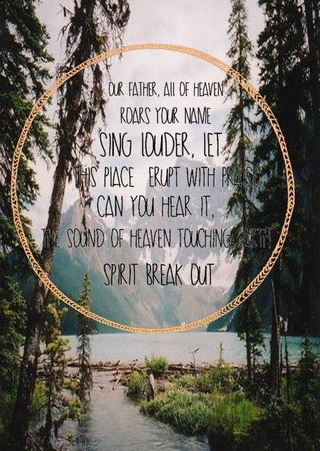 Spirit Break out - my absolute most most most new favorite!!!! Such freedom in this song!