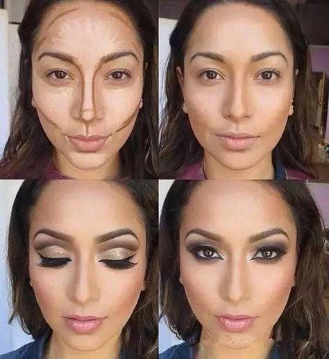 Maquiagem Bronzer 3D Makeup Highlight Contour Cream Stick Dark Color Long Lasting Contouring Foundation Face Concealer Liquid Pen
