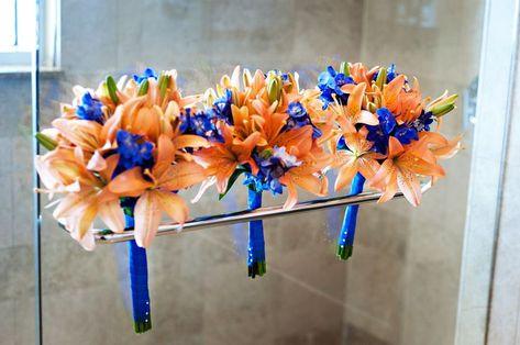 tiger lily bridal bouquet blue - Google Search