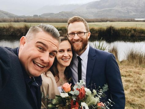 Rob used to sneak into Ambre's room for kissing practise. Now they're husband and wife!  Ambre  Rob #marriedbyjosh in New Zealand with @elopementcollective @heartandcolour and @crimsonfloraldesign at Wanaka!   #MarriedByJosh #ElopementCollective #WeddingCelebrant #MarriageCelebrant #Marriage #Celebrant #NewZealand #Wanaka #WanakaCelebrant #WanakaElopement #married #justmarried #elopement #elope #love #VSCO #VSCOcam #Shotoniphone #GlendhuBay