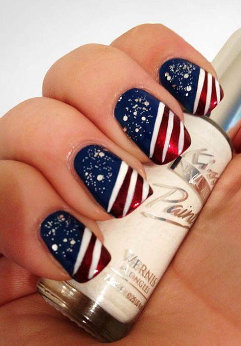 26 Epically Funny Nail Art Fails | Patriotic nails, July