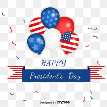 Balloon Ribbon Banner Element Design For Us Presidents Day Washingtons Birthday Jubilation Hat Png And Vector With Transparent Background For Free Download Balloon Ribbon Ribbon Banner Presidents Day