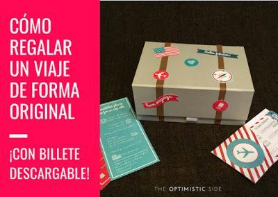 Idea De Regalo Viaje Original Billete Descargable Personalizable