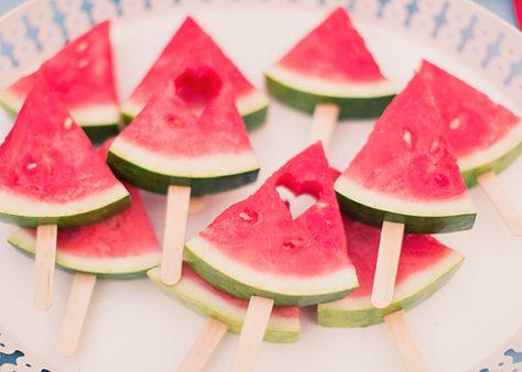 In reverse...so heart shaped watermelon chunks! So cute