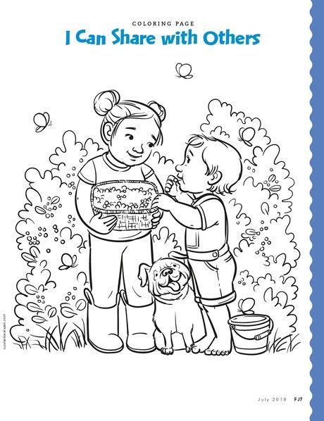 Coloring Page About Sharing Coloring Pages Lds Coloring Pages