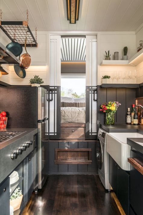 The Escher Tiny House on Wheels by New Frontier Tiny Homes Built
