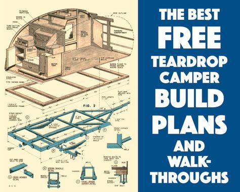 1000 ideas about teardrop camper plans on pinterest for Free trailer plans