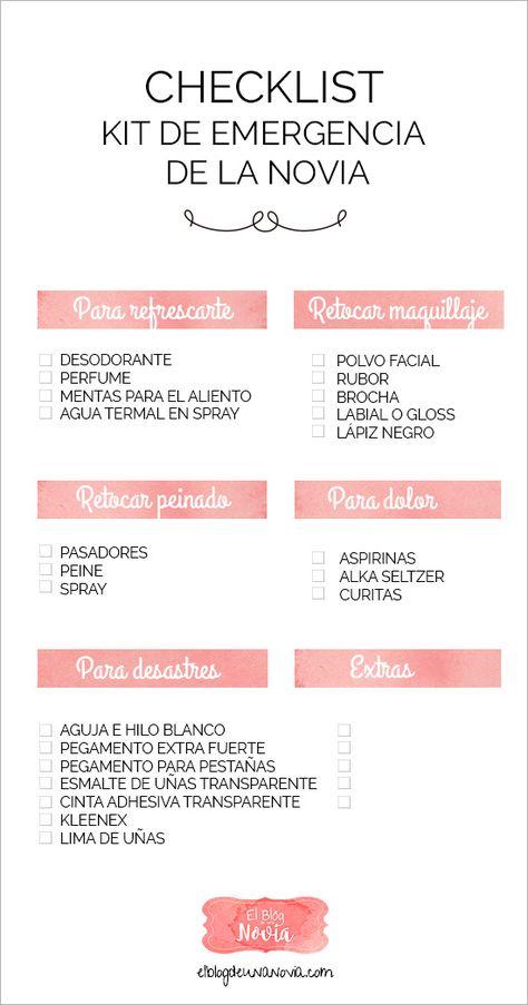 Kit de Emergencia para la Novia   Lista de los artículos indispensables para resolver los principales imprevistos de una Novia   El Blog de una Novia
