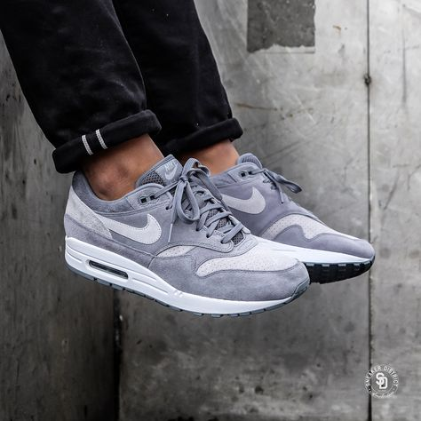Nike Air Max 1 Premium Cool GreyWolf Grey Available Now zu