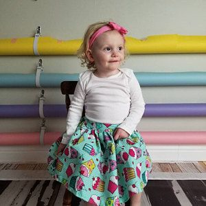 Pattern Girls Ruffle Flip Skirt Pdf Sewing Pattern Instant