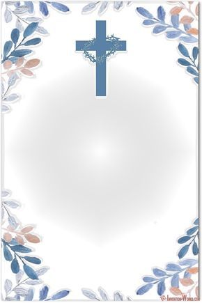 photo about First Holy Communion Cards Printable Free named Initial Communion Invitation Playing cards Carátulas para cuadernos