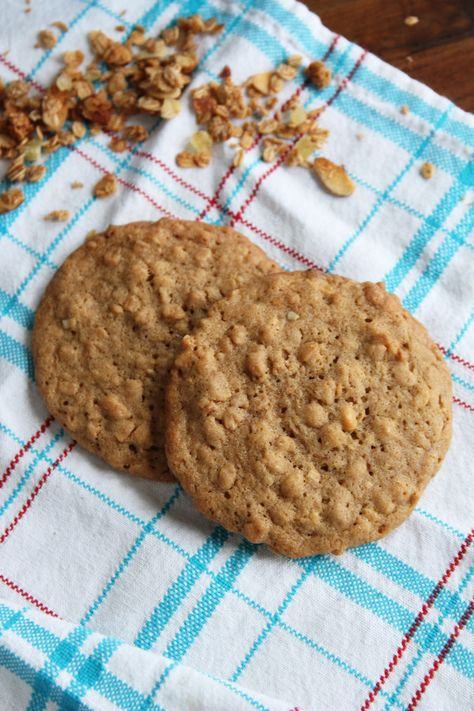 Granola Cookies If you think you like oatmeal cookies, then you simply must try making Granola Cookies. They are everything an oatmeal cookie should be, taken to the next level.