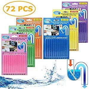72 Stuck Sani Sticks Stoppe Stinkende Verstopfte Abflusse Enzymreiniger Fur Verstopfte Rohre In Bad Dusche Und Verstopfte Abflusse Abfluss Tischventilator