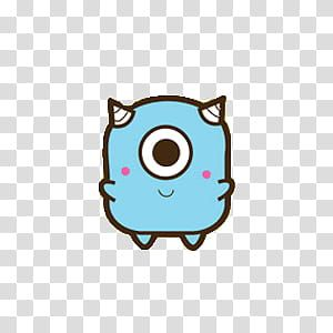Monsters Blue And White Monster Animated Illustration Transparent Background Png Clipart Clip Art Transparent Background Free Clip Art