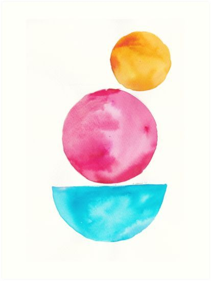 5 181122 Simple Geometry Shapes Geometric Watercolor