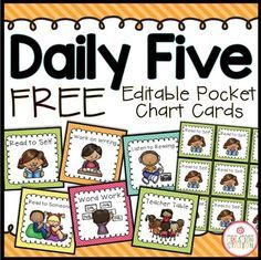 Daily Five Class Management System {Brights Classroom Set} Directions: This document includes resources you can use to manage Daily Five in your classroom. The cards and labels make Daily Five more manageable for younger (and older) students. Daily 5 Stations, Daily 5 Centers, Work Stations, Math Stations, Daily 5 Kindergarten, Kindergarten Centers, Kindergarten Reading Strategies, Reading Resources, Daily 5 Reading