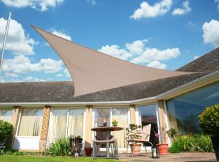 Kookaburra Bright White Breathable Shade Sail Garden Patio UV Sun Screen Canopy
