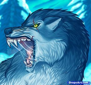 how to draw an angry wolf, angry wolf step 12 | tseretinP in 2019