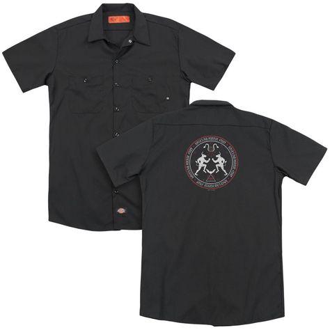American Horror Story - Coven Minotaur Sigil (Back Print) Adult Work Shirt - SM / black
