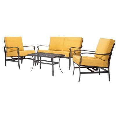 New Patio Furniture For Our New Concrete Patio! Threshold™ Hawthorne 4 Piece  Metal Patio Conversation Furniture Set | Pinterest | Furnituru2026