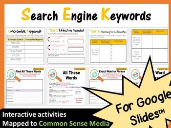 Grades 3 5 Internet Safety Interactive Lesson Search Engine