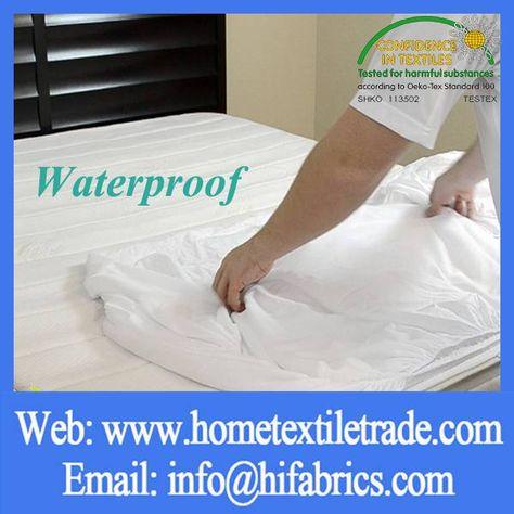 Fabric Textiles Memory Foam Mattress Terry Water Repellent