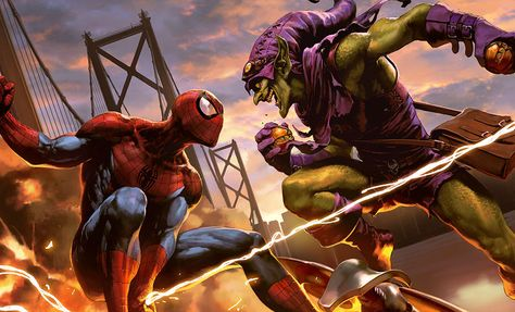 Spider-Man vs Green Goblin Art by Wonchun Choi