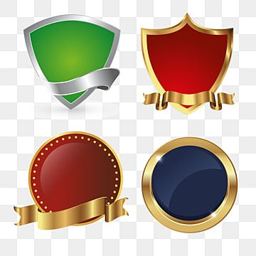 Golden Shields Icon Badges Collection Shield Clipart Icons Converter Icons Fitness Png And Vector With Transparent Background For Free Download Instagram Logo Shield Icon Cartoon Styles