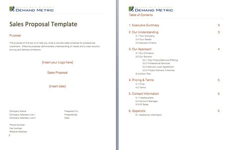 Sales Proposal - Use this template to provide your reps with a - sales proposal template