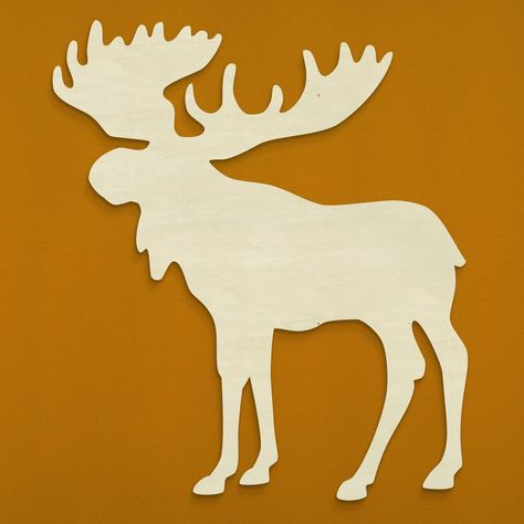Moose Silhouette – Unfinished Wood Co